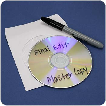 Master copy of CD
