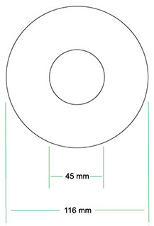 standard CD image dimensions