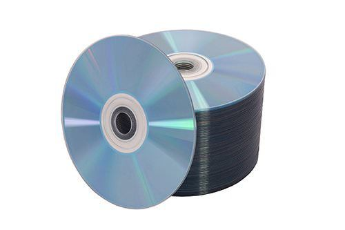Tall spindle of CDs